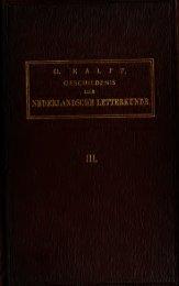Geschiedenis der Nederlandsche letterkunde - Index of