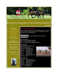 April 2012 - Friesian Horse Association of North America