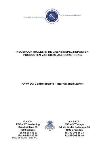 INVOERCONTROLES IN DE GRENSINSPECTIEPOSTEN ... - Favv