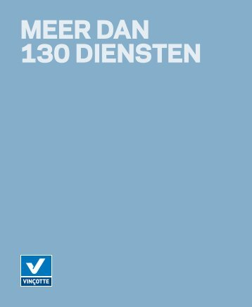 MEER DAN 130 DIENSTEN - Vinçotte
