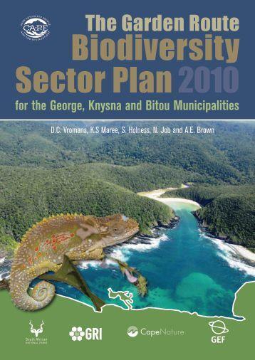 The Garden Route Sector Plan Western Cape - bgis-sanbi