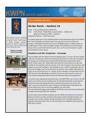 DG Bar Ranch – Hanford, CA - KWPN