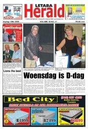 Woensdag is D-dag - Letaba Herald