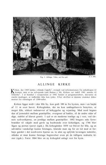 ALLINGE KIRKE - Nationalmuseet