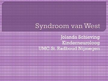 Presentatie Westsyndroom - Epilepsie Vereniging Nederland