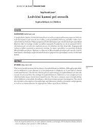 Ledvi~ni kamni pri otrocih - Medicinski razgledi