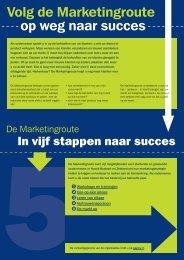 Volg de Marketingroute op weg naar succes - Brainport Development