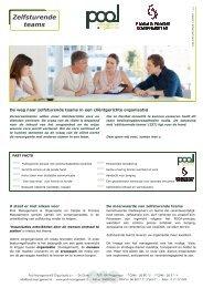 FACTSHEET Zelfsturende teams - Pool Management & Organisatie