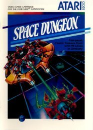 Space Dungeon (1983) (Atari) Manual (PDF) - Emuparadise