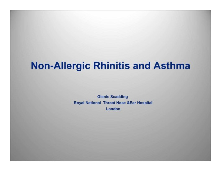 case study of allergic rhinitis The purpose of this study is to determine if the investigational drug is effective and safe in children with seasonal allergic rhinitis.