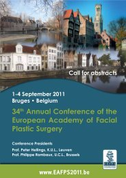 34th Annual Conference of the European Academy ... - S.I.O.e.Ch.CF.