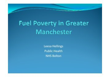 Leesa Hellings Public Health NHS Bolton - Greater Manchester ...