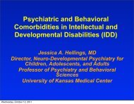 Obesity: What works - The Kansas Center for Autism Research and ...