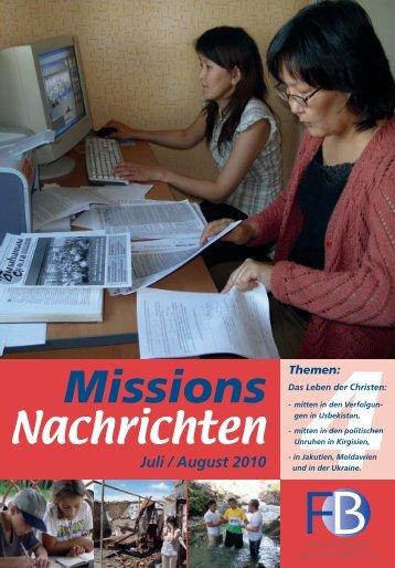 Nachrichten 2010-4 - Verlag Friedensbote