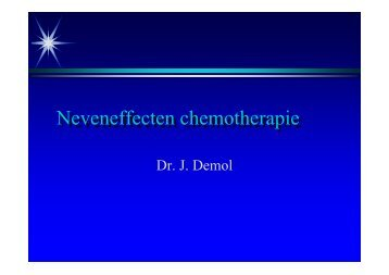 Neveneffecten chemotherapie