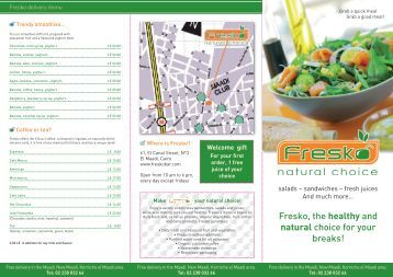 Fresko, the healthy and natural choice for your breaks!