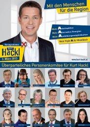 Mit den Menschen für die Region - Kurt Hackl