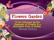 Flower Fragrances - Nature's Garden Candles