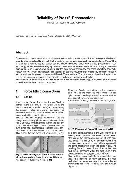 Reliability of pressFIT connections - Infineon