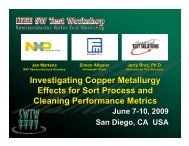 Investigating Copper Metallurgy Effects for Sort Process and ...