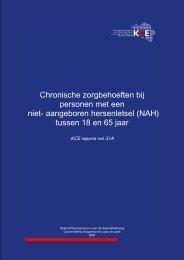 Chronische zorgbehoeften bij personen met een NAH - KCE