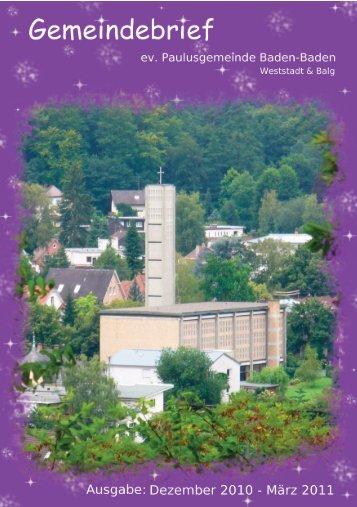 Weihnachten - Ev. Paulusgemeinde Baden-Baden