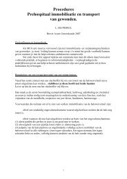 prehospitaal immobilisatie en transport - Brevet Acute Geneeskunde