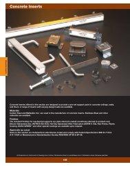 Concrete Inserts - Cooper Industries