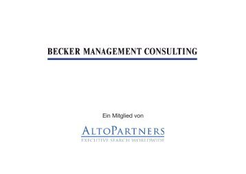 Beraterprofil: Joachim H. Becker Information zum beruflichen ...