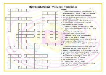 BLOKKIESRAAISEL: Wiskunde-woordeskat - Think Online