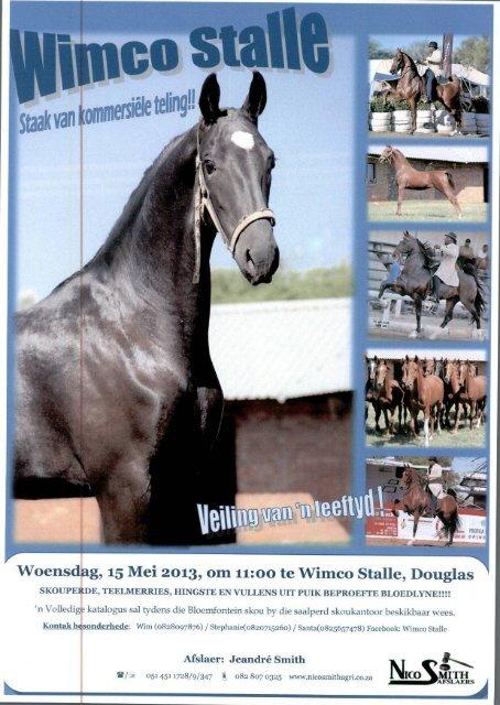 Woensdag, 15 Mei 2013, om 11:00 te Wimco Stalle, Douglas