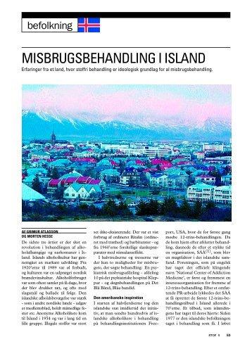 misbrugsbehandling i island - STOF