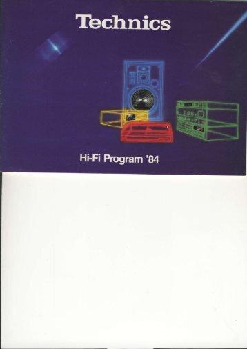 Technics Hi-Fi Program '84 (Danish)