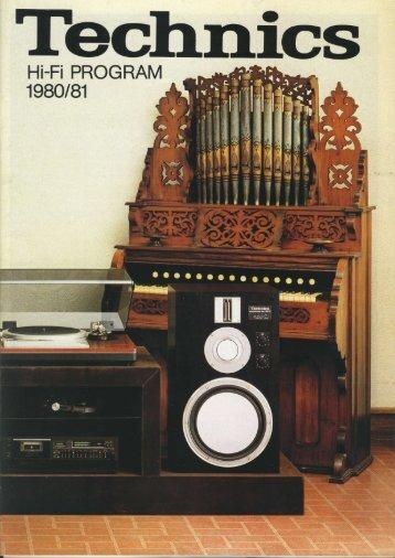 Technics Hi-Fi Program 1980/81 incl prisliste