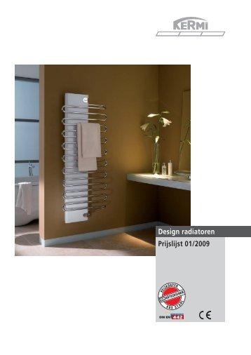 Design radiatoren Prijslijst 01/2009 - Kermi GmbH