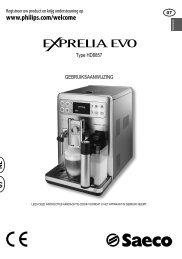 Philips Saeco Exprelia EVO HD8855/01 koffiemachine - Wehkamp.nl