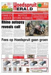 Rhino autopsy reveals calf