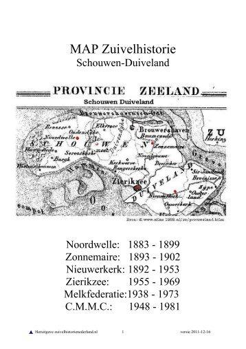 MAP Zuivelindustrie Schouwen-Duiveland - Zuivelhistorie Nederland