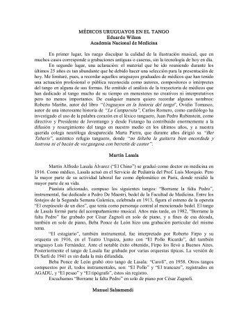 """Roberto Mariño, autor del libro """"Uruguayos en la historia del tango ..."""