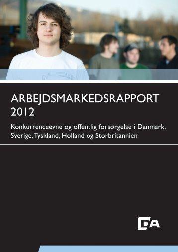 Arbejdsmarkedsrapport 2012.indb - Dansk Arbejdsgiverforening
