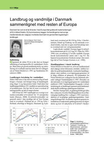 Landbrug og vandmiljø i Danmark sammenlignet ... - LandbrugsInfo