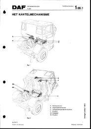Daf 2200 cabine kantelmechanisme - Oudedaftechniek