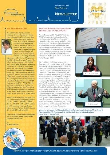 Newsletter Ausgabe 2 / 2013 - Kompetenznetz Vorhofflimmern