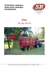 Onderdelen catalogus Spare parts catalogue ... - Schuitemaker