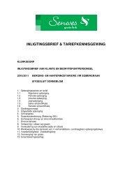 INLIGTINGSBRIEF & TARIEFKENNISGEWING