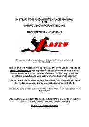 INSTRUCTION AND MAINTENANCE MANUAL FOR ... - Jabiru Aircraft