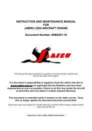INSTRUCTION AND MAINTENANCE MANUAL - Jabiru Aircraft