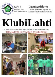 Tammikuu 2012 - Lahden Klubitalo