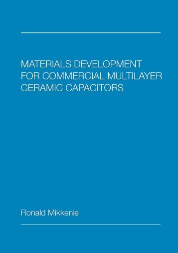 Materials development for commercial multilayer ceramic capacitors