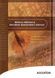 Medical Writing & Document Management - Accovion